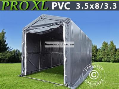 Båthall-Lagertält PRO XL 3,5 x 8 x 3,3 x 3,94 m PVC Grå