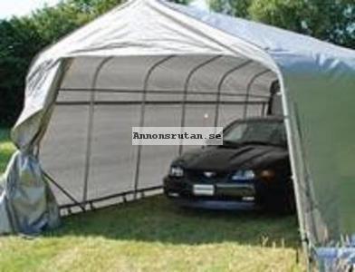 Garagetält 3,6 x 7,2 x 2,68 PVC Grå 6525:-